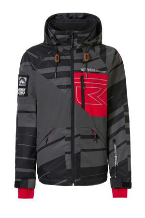 skibroek Maine-R jr zwart/grijs/rood