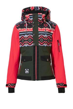 ski-jack Emmy-R jr groen/rood