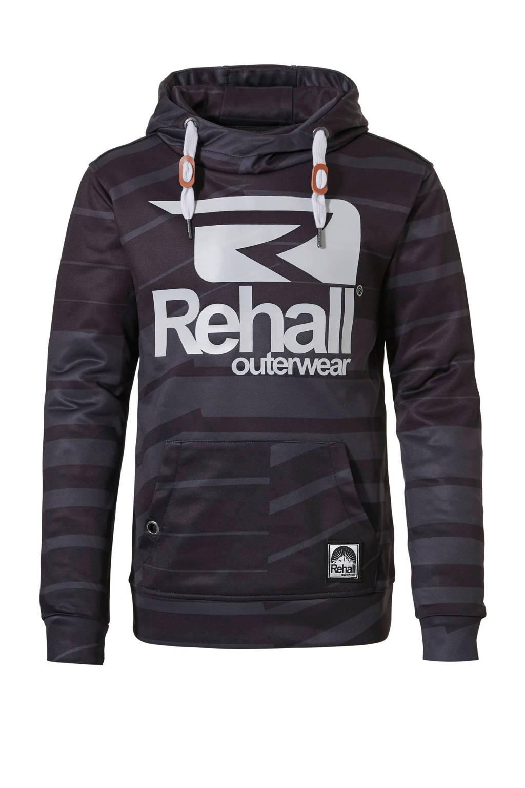 Rehall hoodie Eddy-R jr zwart, Zwart