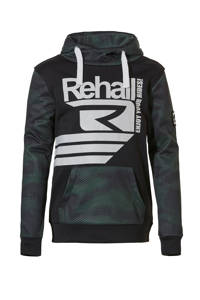 Rehall hoodie Grazz-R jr olijfgroen/zwart, Olijfgroen/zwart
