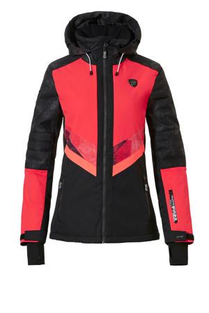 ski-jack Megan-R roze/zwart