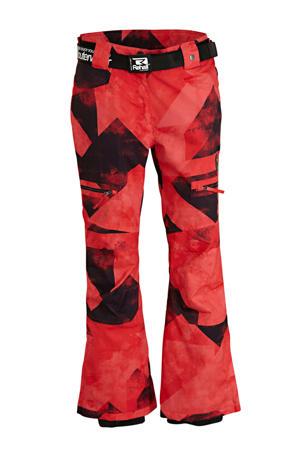 skibroek Keely-R rood/zwart