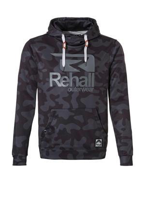 hoodie eddy-R PWR zwart/grijs
