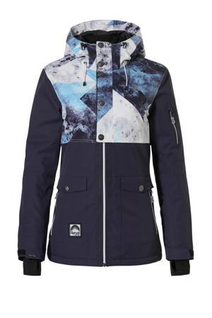 ski-jack Emmy-R donkerblauw/wit