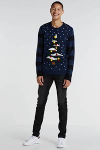 ONLY & SONS trui met printopdruk donkerblauw, Donkerblauw