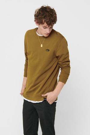 sweater van biologisch katoen camel