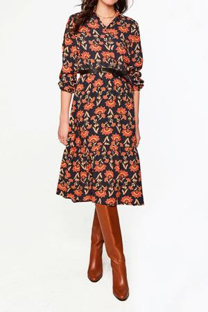 blousejurk met all over print oranje