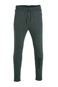 Malelions slim fit joggingbroek met printopdruk antraciet, Antraciet