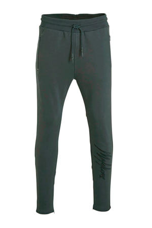 slim fit joggingbroek met printopdruk antraciet