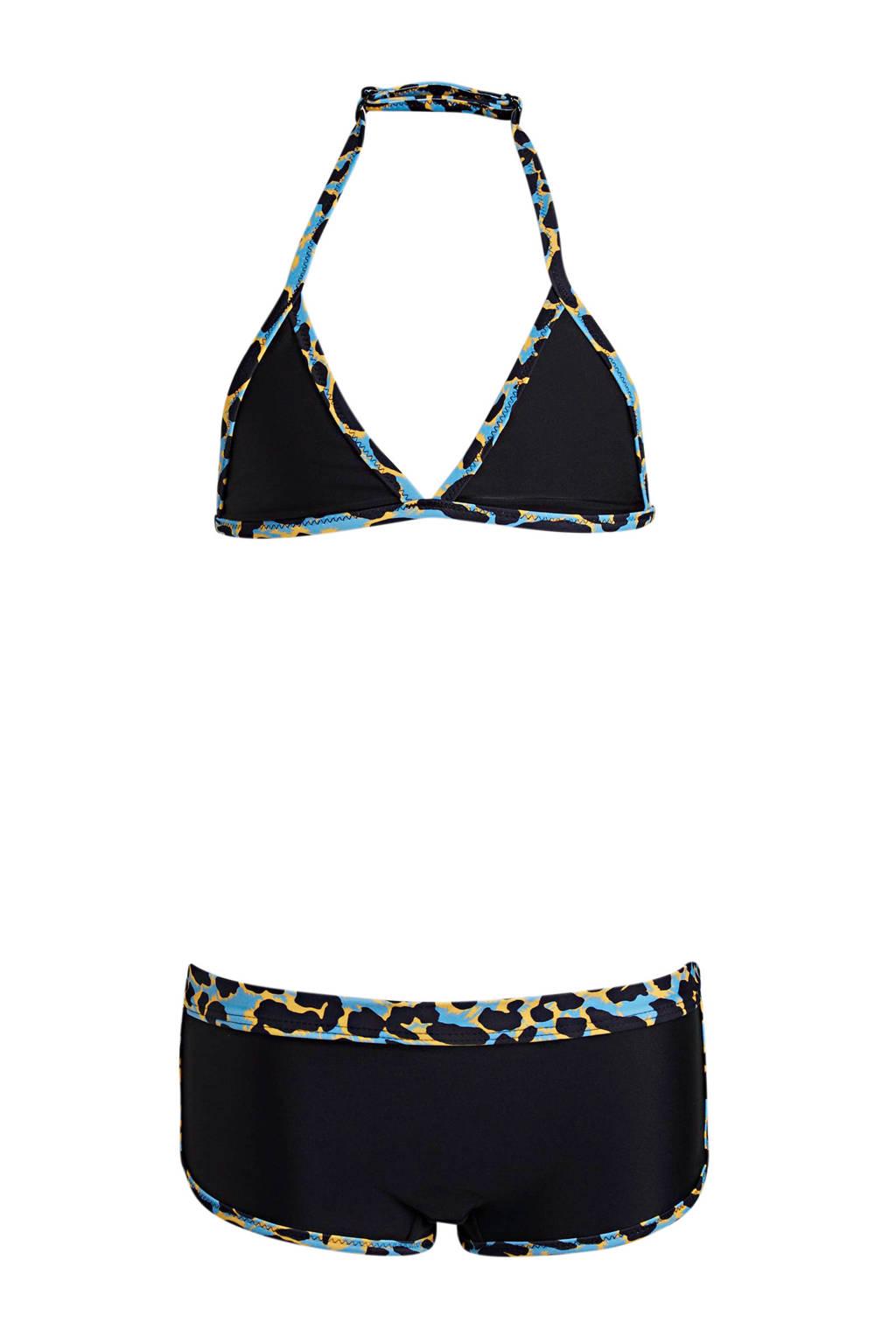 BEACHWAVE triangel bikini + scrunchie zwart, Zwart