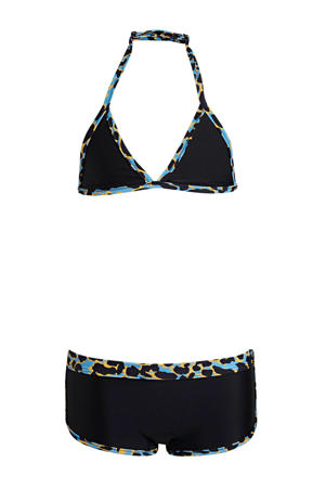 triangel bikini + scrunchie zwart