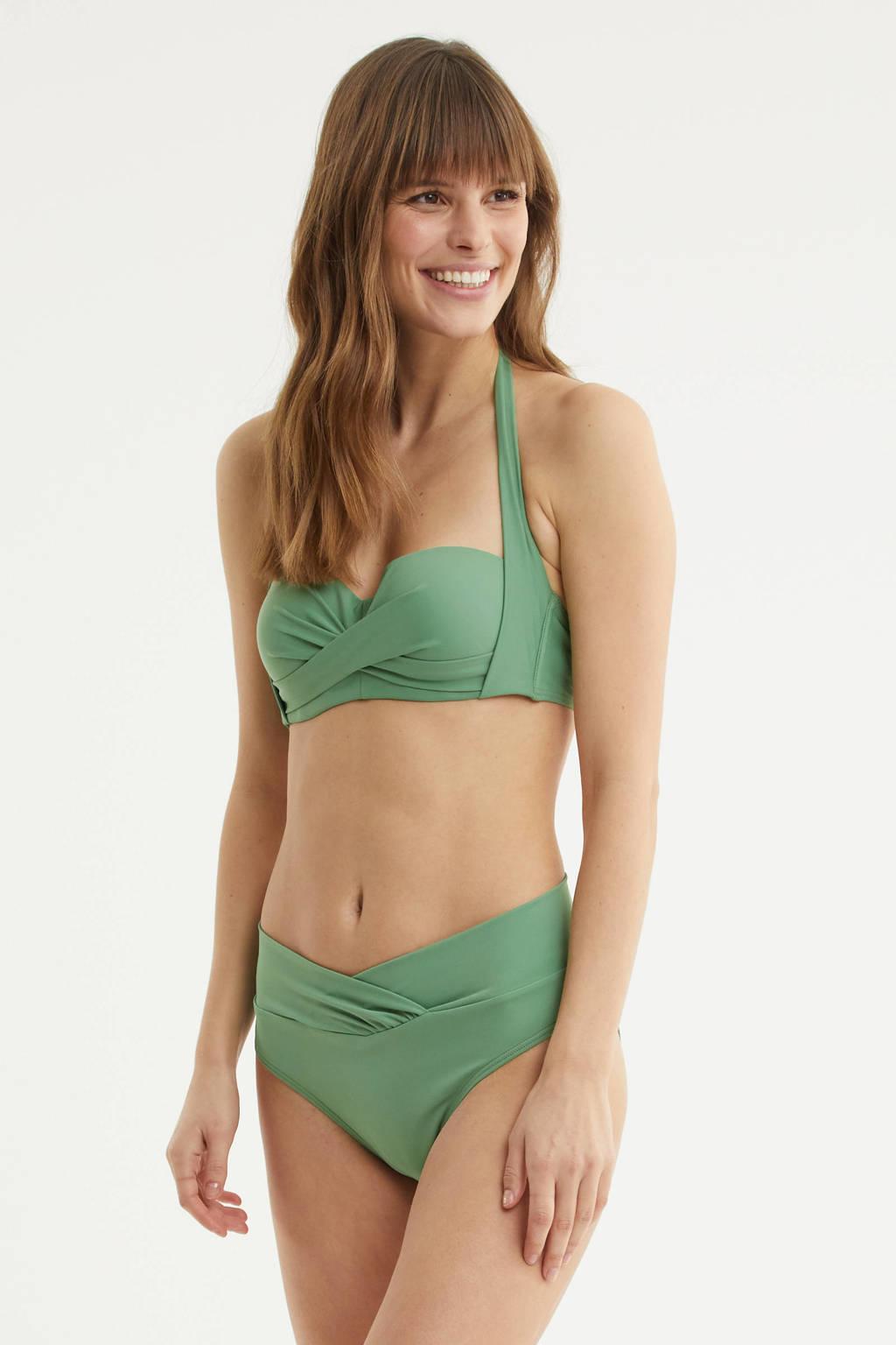 BEACHWAVE halter bikinitop lichtgroen, Lichtgroen