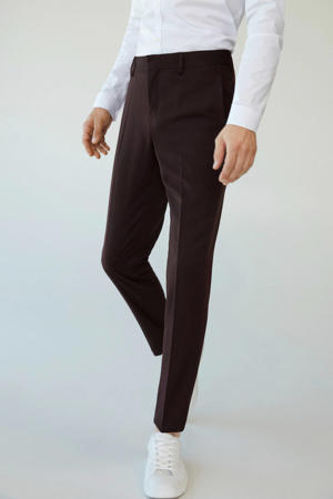 slim fit pantalon donkerrood