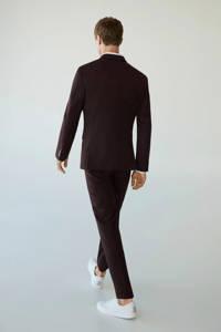Mango Man slim fit pantalon donkerrood, Donkerrood