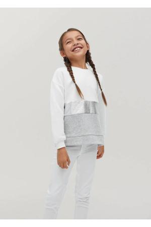 sweater wit/lichtgrijs/zilver
