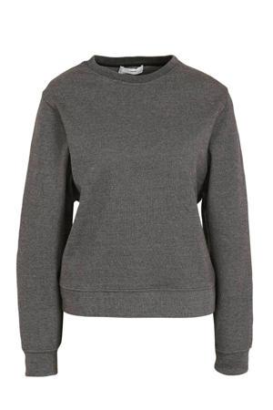 gemêleerde trui van gerecycled polyester donkergrijs