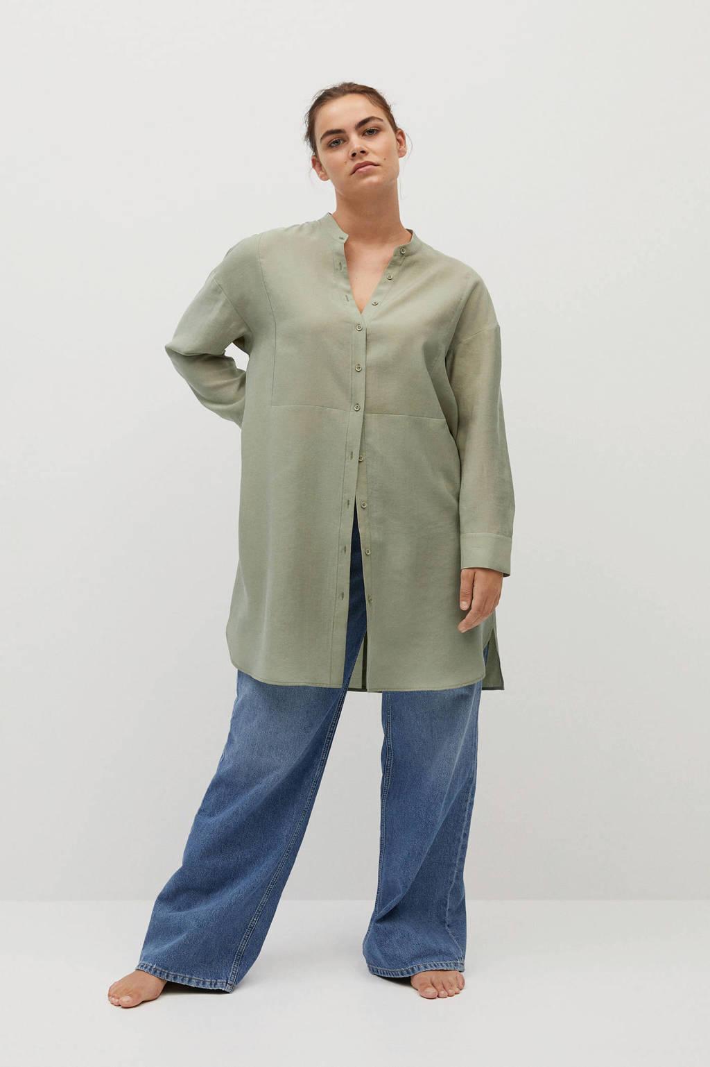 Violeta by Mango blouse groen, Groen