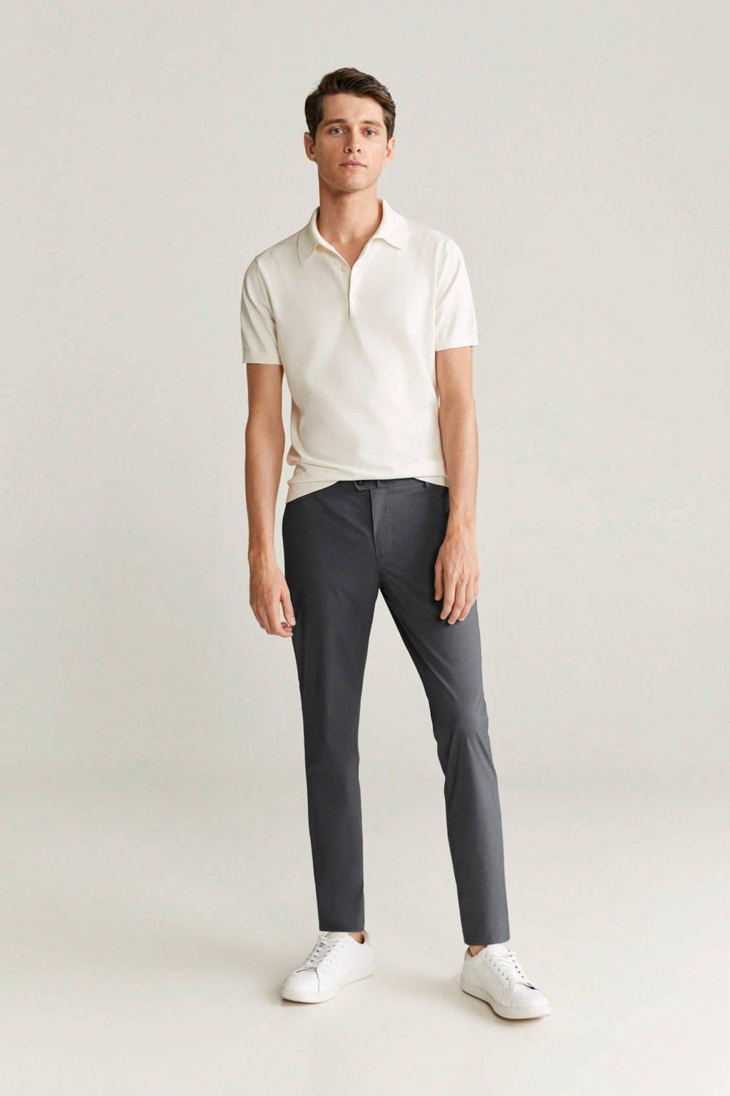 Mango Man regular fit pantalon grijs, Grijs