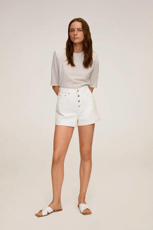 high waist regular fit short wit