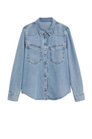 blouse light blue denim