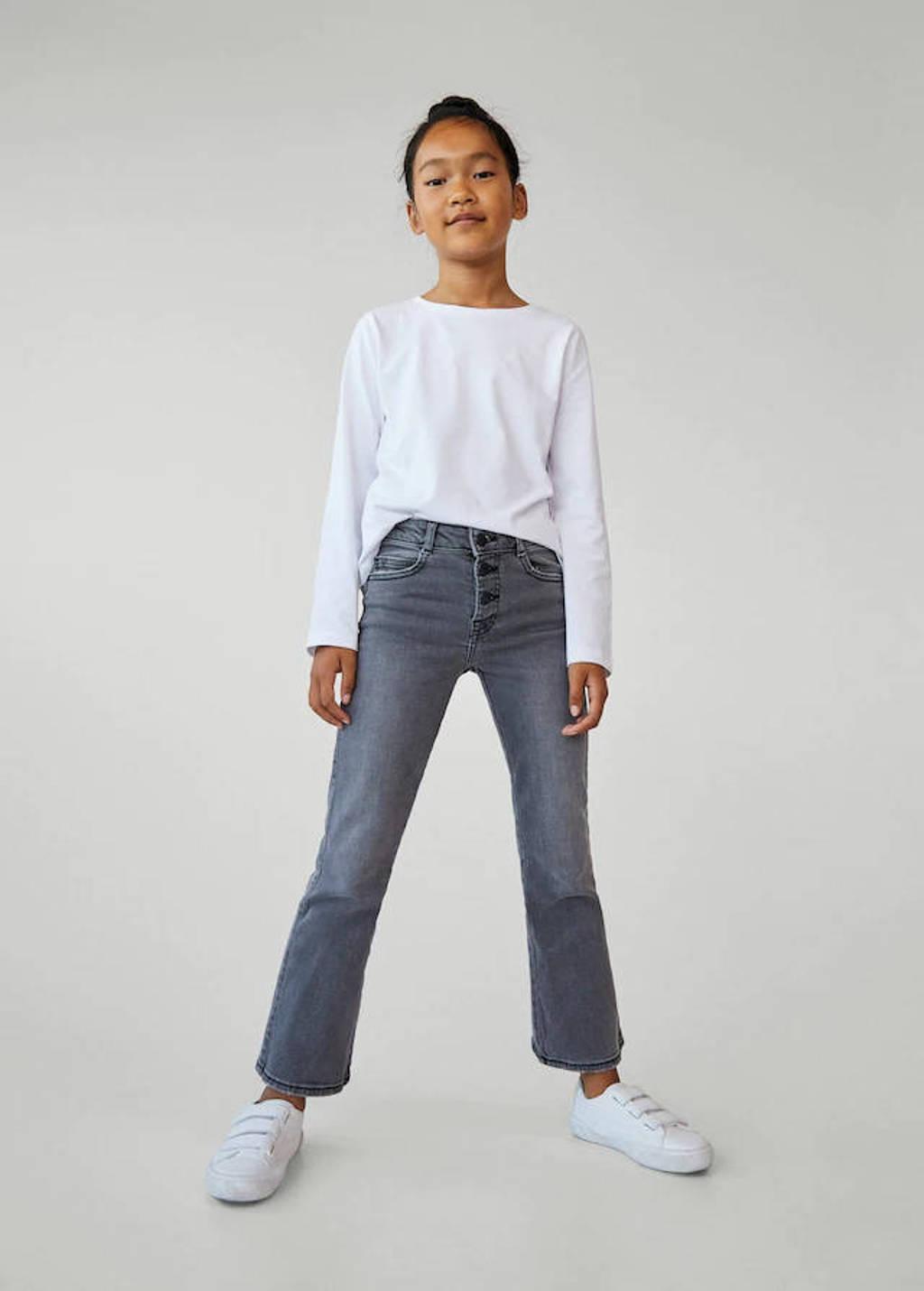 Mango Kids flared jeans grijs, Grijs