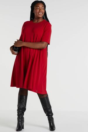 jurk met open detail rood