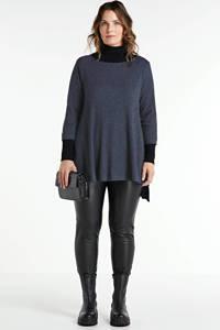 Mat Fashion high waist skinny tregging zwart, Zwart