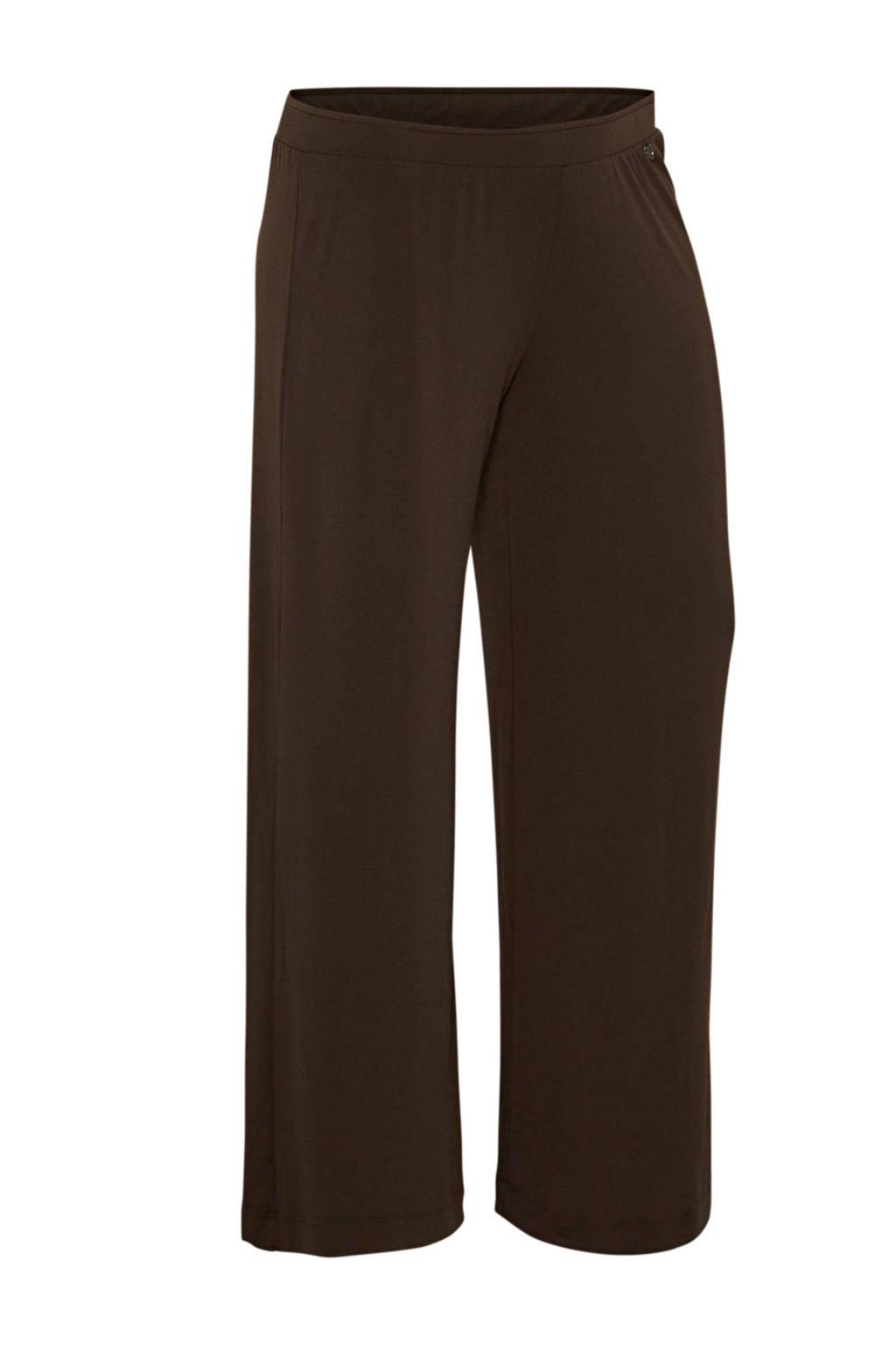 Mat Fashion jersey broek bruin, Bruin