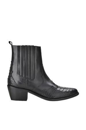Tartor  leren cowboy boots zwart