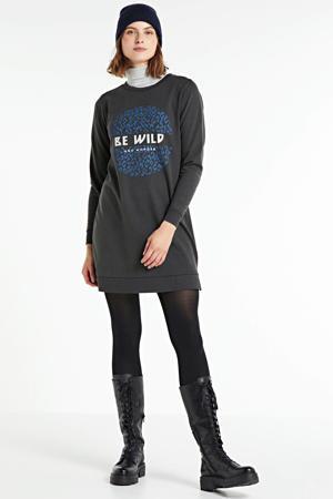 T-shirtjurk met printopdruk zwart