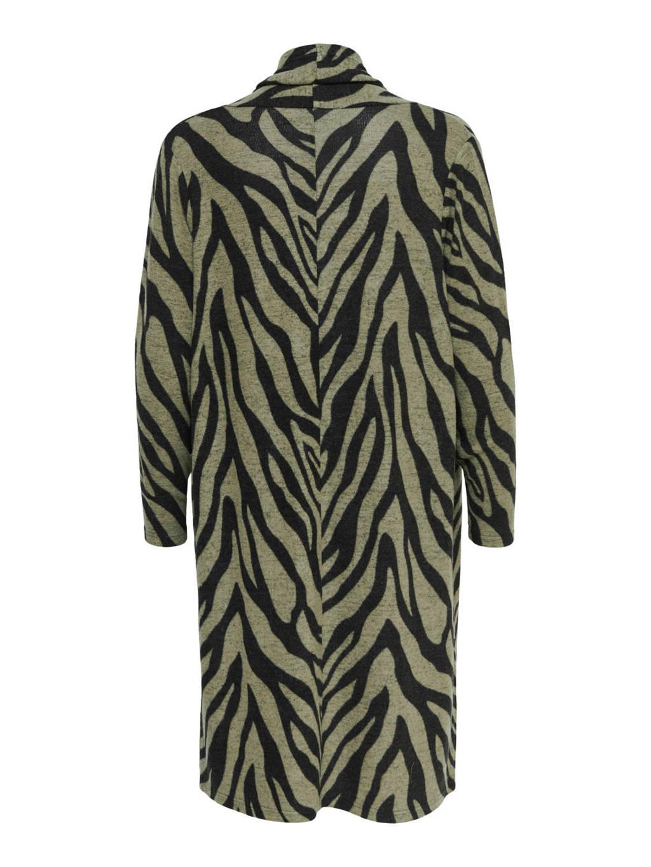 ONLY vest met zebraprint groen, Groen