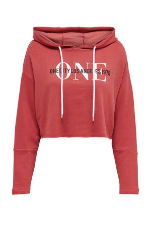 hoodie met printopdruk rosé