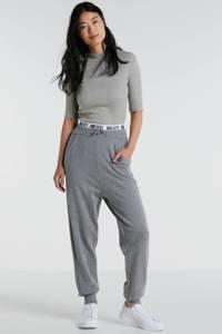 ONLY high waist loose fit broek Mila grijs, Grijs