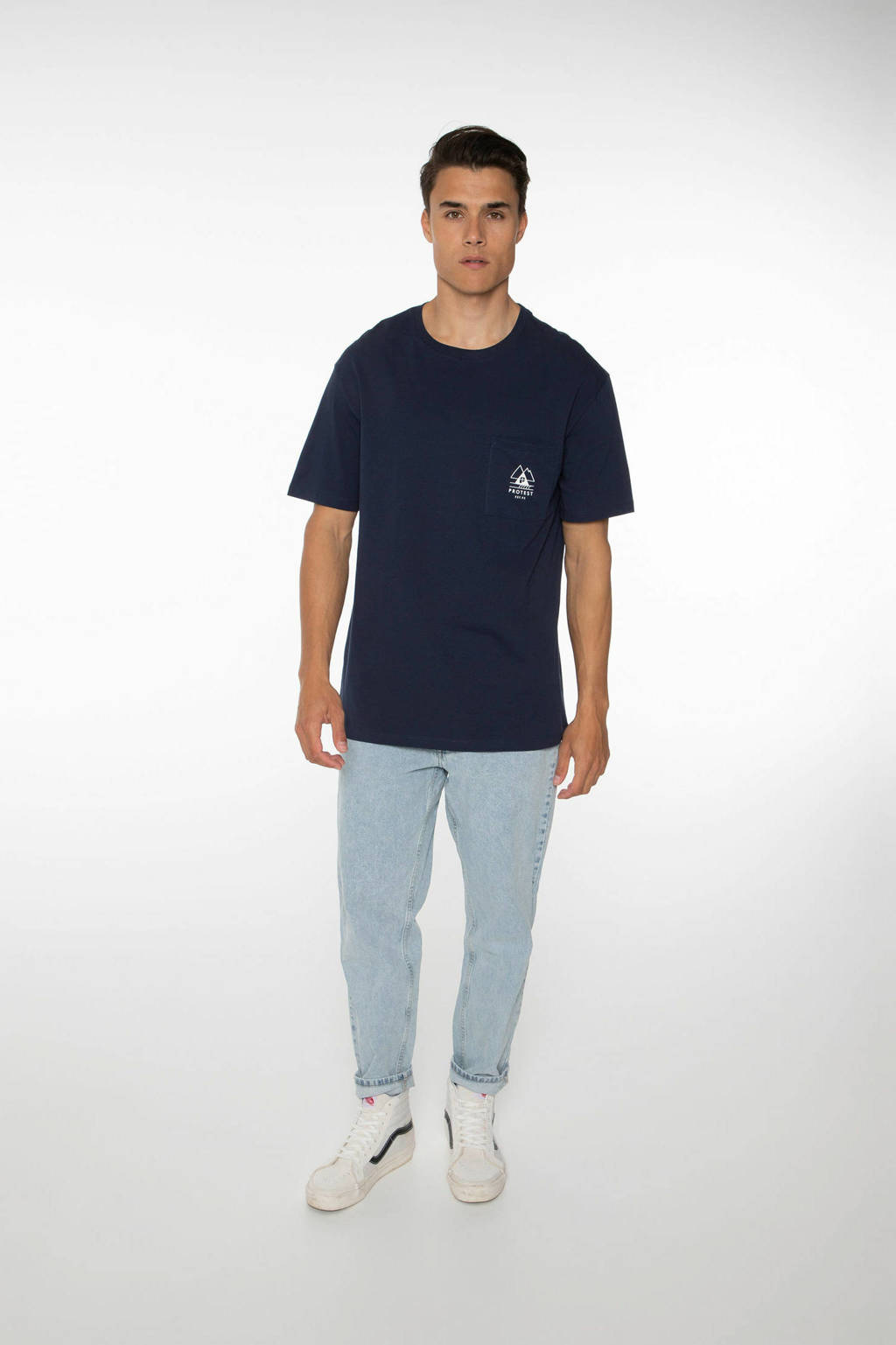 Protest T-shirt Isiah donkerblauw, Ground Blue