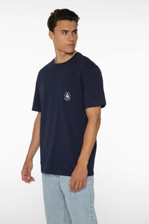 T-shirt Isiah donkerblauw