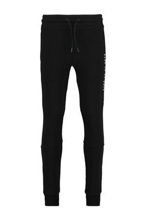 slim fit joggingbroek Cris met tekst zwart