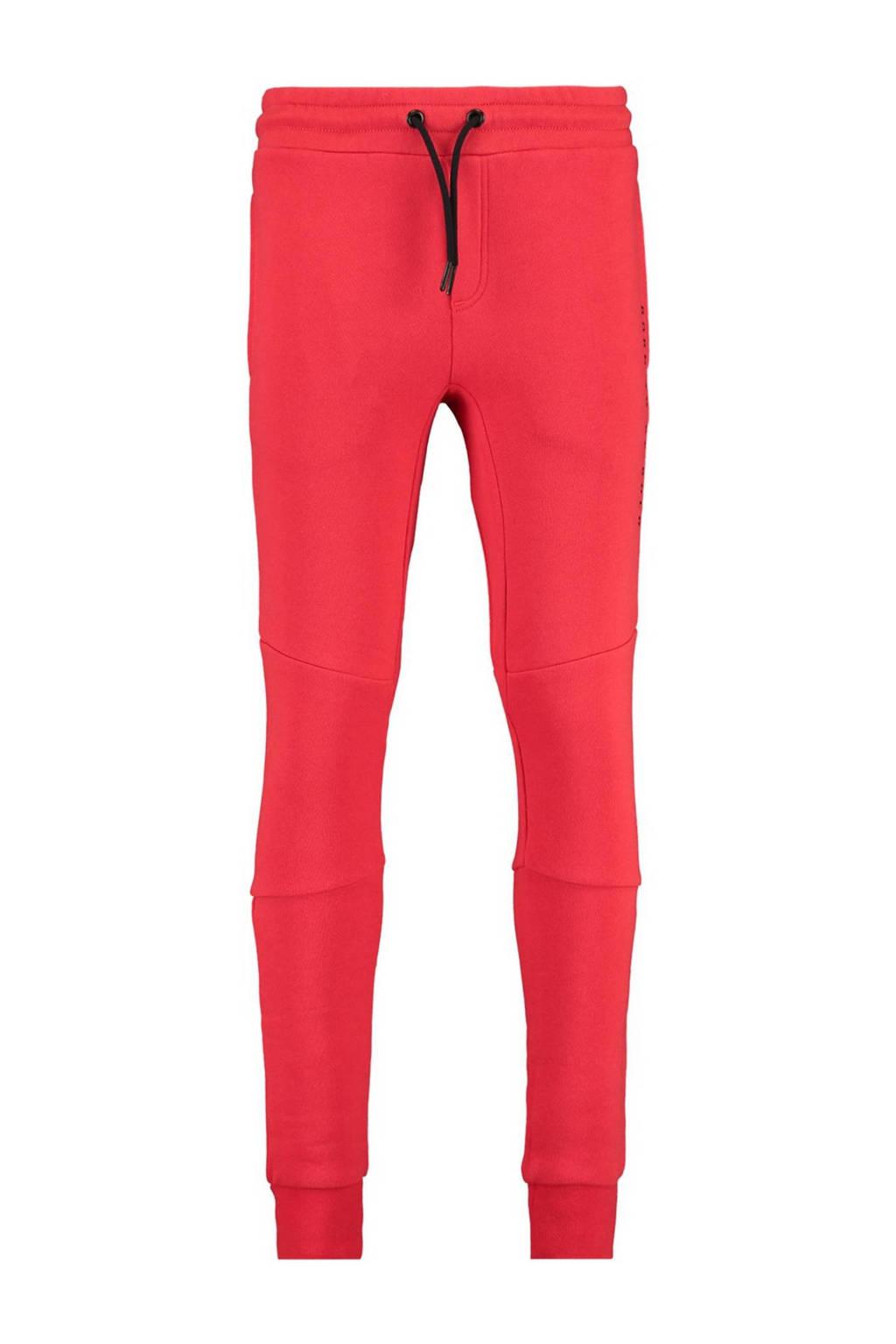 CoolCat Junior slim fit joggingbroek Cris met tekst rood, Rood