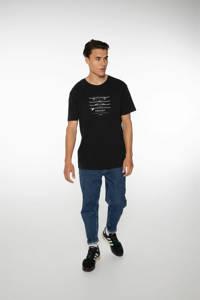 Protest T-shirt Curly met printopdruk zwart, True black