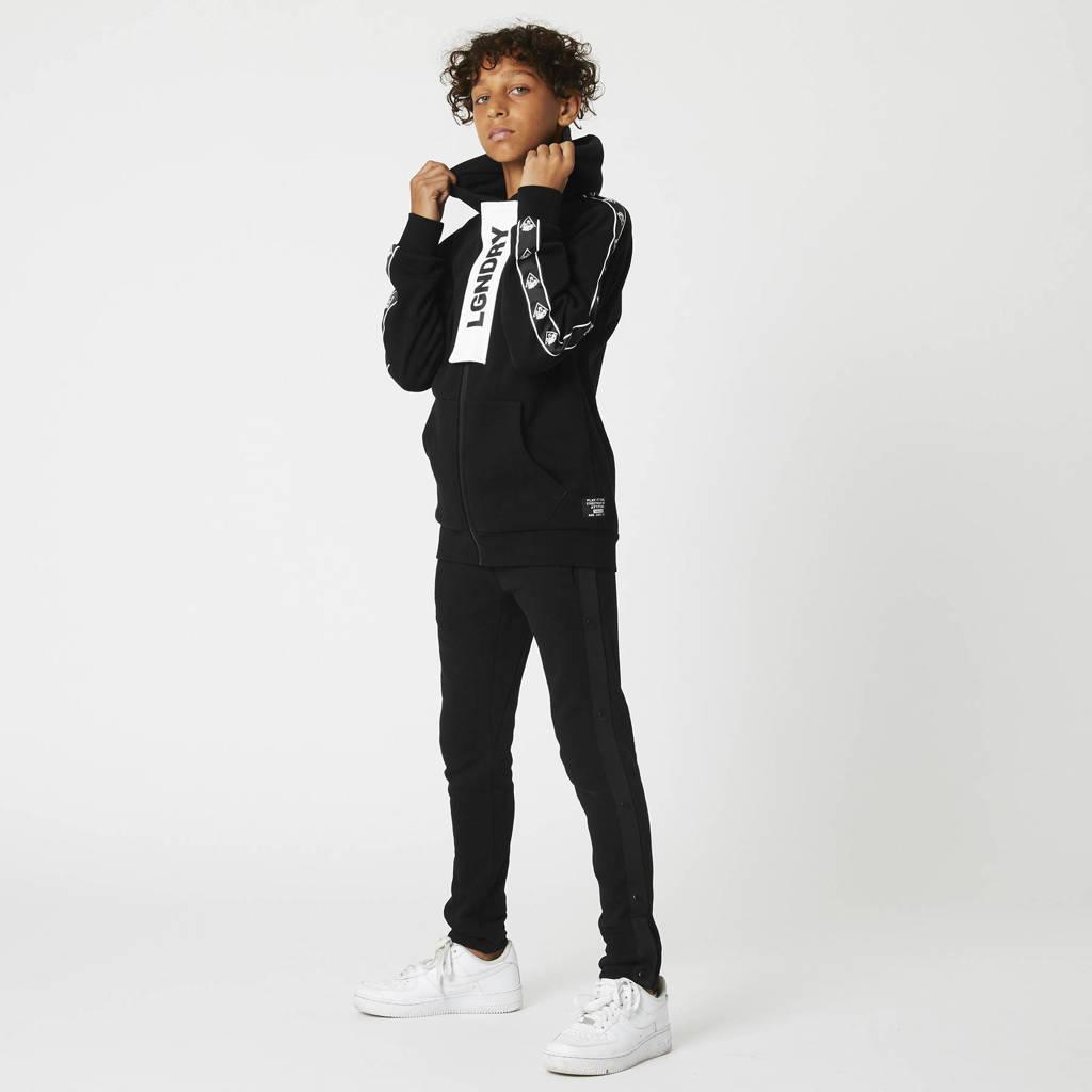 CoolCat Junior vest Stan met contrastbies zwart, Zwart