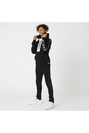 vest Stan met contrastbies zwart