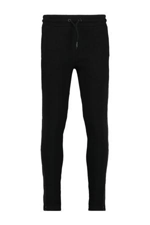 slim fit broek Cam met zijstreep zwart