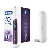 Oral-B iO Serie 8s elektrische tandenborstel (paars), Paars, wit
