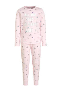 C&A Here & There pyjama all over print lichtroze, Roze