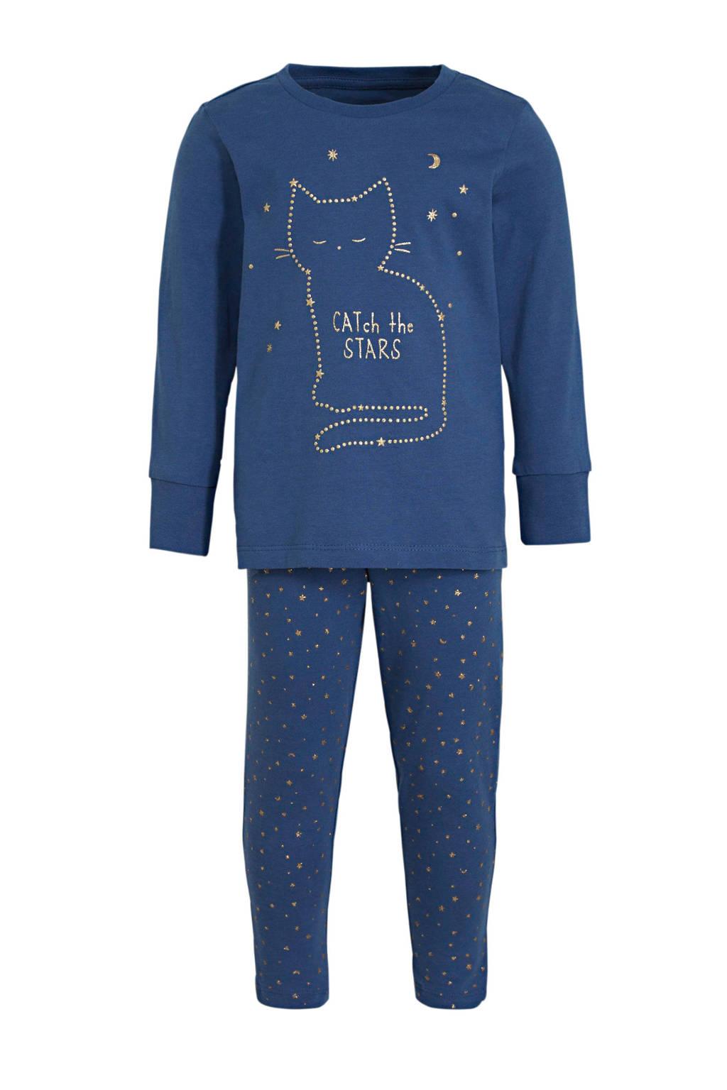 C&A Palomino pyjama printopdruk blauw, Blauw