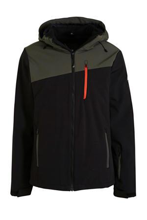 ski-jack Barry zwart/groen