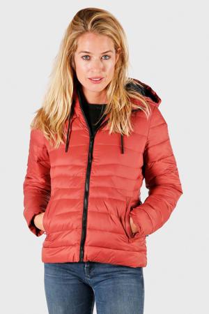 gewatteerde jas Maija rood