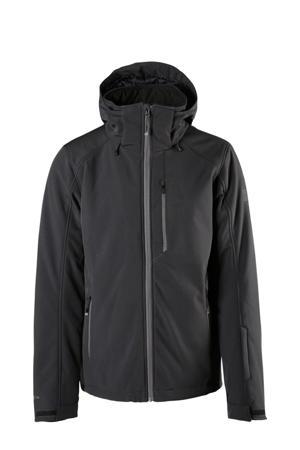 softshell ski-jack Marsala zwart