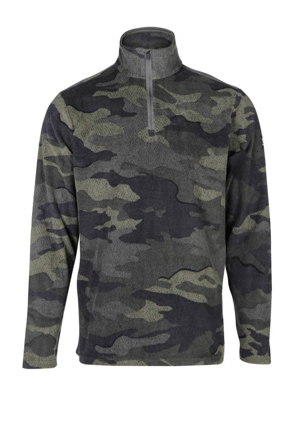 Brunotti skipully camouflage print, Groen/grijs/zwart