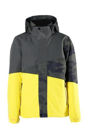 ski-jack Idaho jr geel/grijs