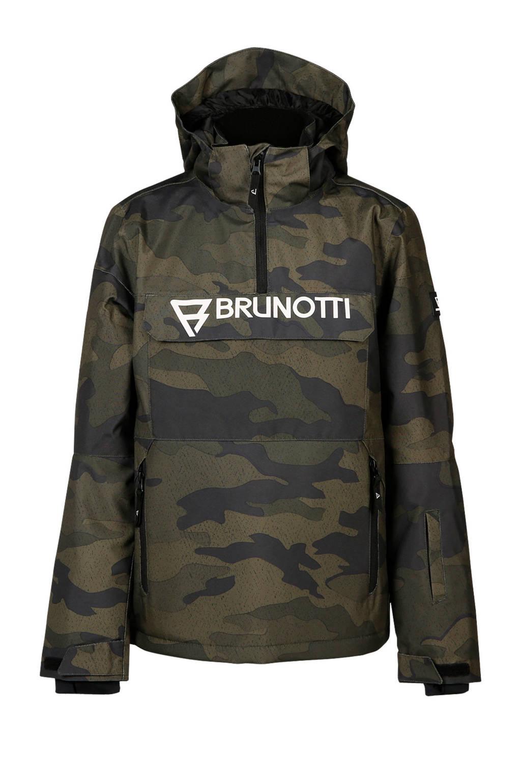Brunotti jack camouflage print groen/zwart, Groen/zwart